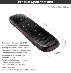 Image 5 - W2 Voice Remote Control 2.4G Wireless Keyboard Air Mouse IR Learning Microphone Gyroscope for Android TV Box H96 MAX X3 X88 Pro