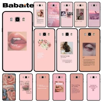 Vintage Pink Aesthetics Songs Lyrics Phone Case For Samsung Galaxy J710 J730 J7Pro DUO Neo PRIME J7Core J8 2018 M10 20 30 A3 image