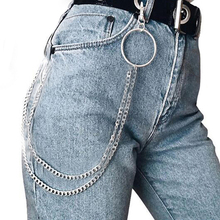 2019 New Hip Hop Pants Chain Personality Punk Rock Nightclub Party Waist Jewelry Accessories