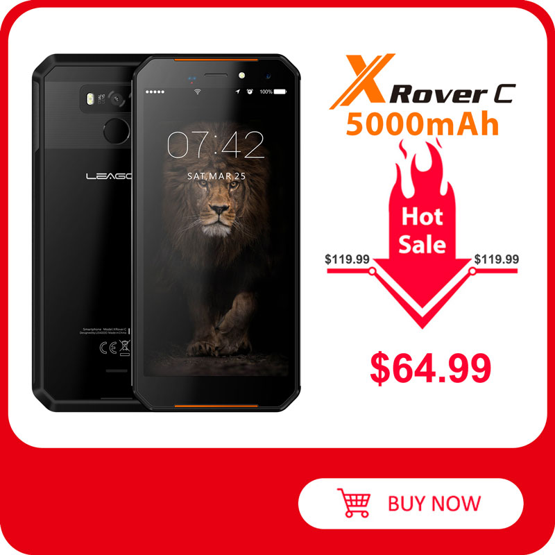 LEAGOO Xrover-C IP68 NFC 16GB 2GB Quick Charge 4.0 Fingerprint Recognition 13MP New Smartphone