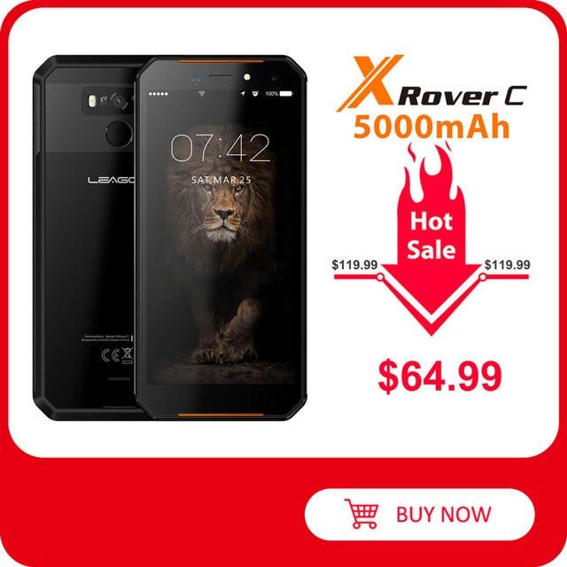 Leagoo teléfono inteligente XRover C, teléfono móvil con identificación facial 4G, pantalla IPS de 5,72 pulgadas, batería de 5000mAh, 2GB RAM, 16GB rom, cámara traseras dobles de 13,0mp, NFC, OTG