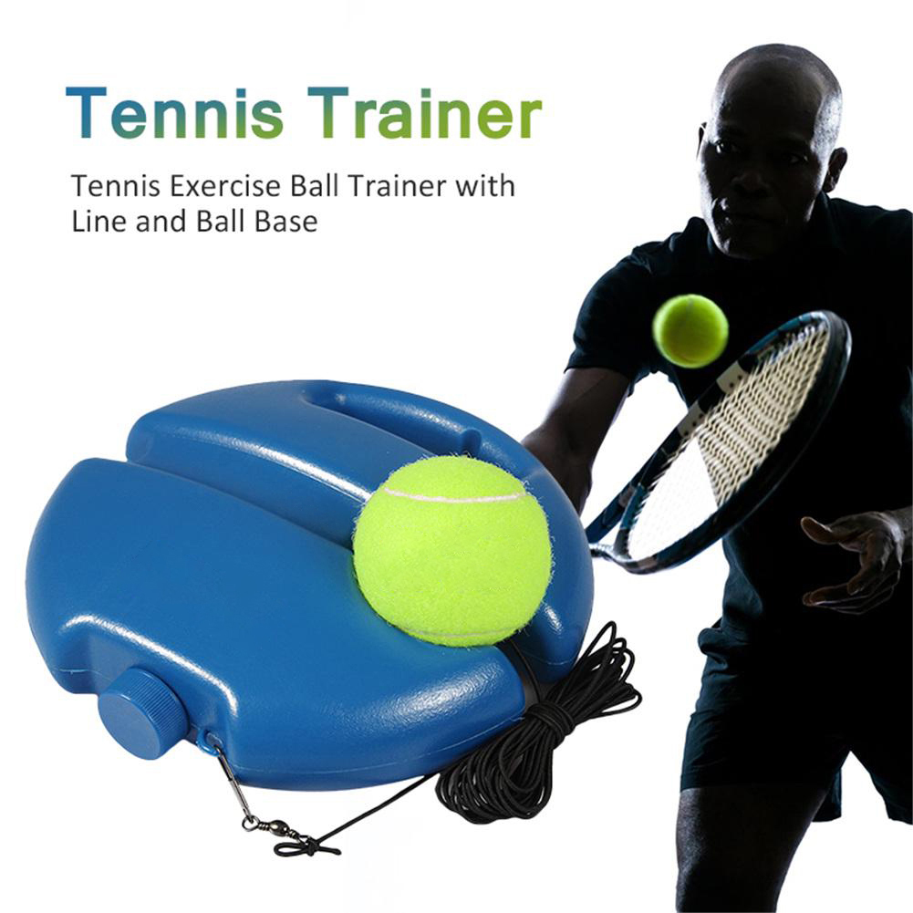 Tennis Training Aids Tool With Elastic Rope Ball Practice Self-Duty Rebound Tennis Trainer Partner Sparring Device