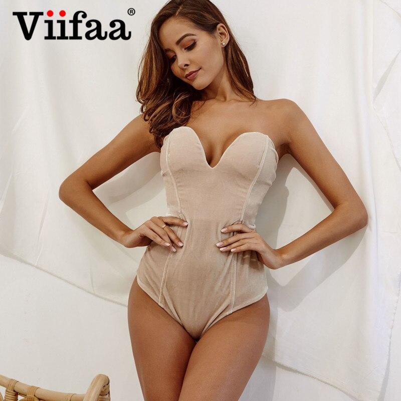 Боди Viifaa женское, бордовое, без бретелек, вельветовое, сексуальное, бодикон с открытой спинкой, на шнурках, с треугольным вырезом, для вечери...