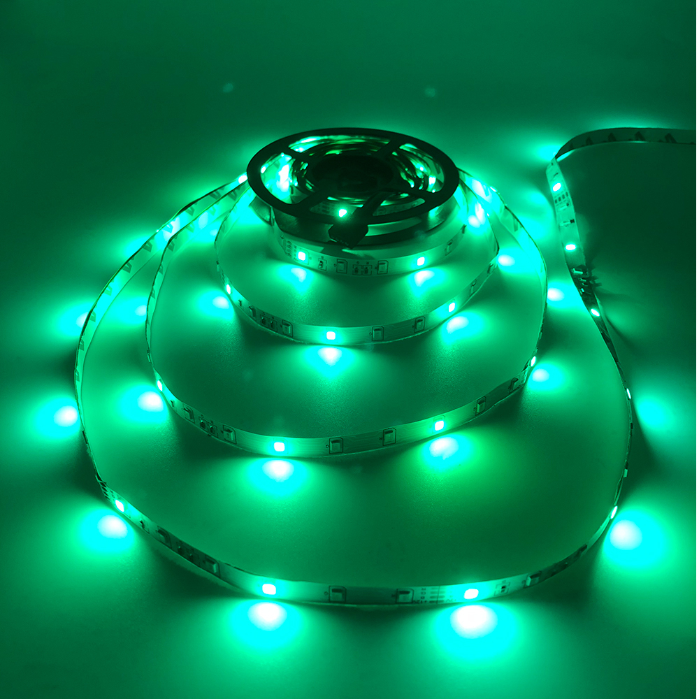 H8e91cc9a2bc2441e8c3bb644be42d47cB - 5m 2835 3528 LED Strip Desk Lamp RGB White Red Green Blue Yellow 300Leds IR Remote Controller Holiday Light Night Garden Light