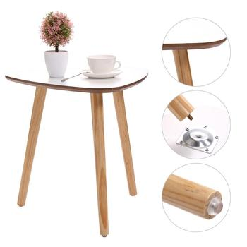 TableStain resistant modern Nordic Wood Coffee Sofa Side End Table Dirty Storage Tea Fruit Snack Service Plate  Magazine Shelf