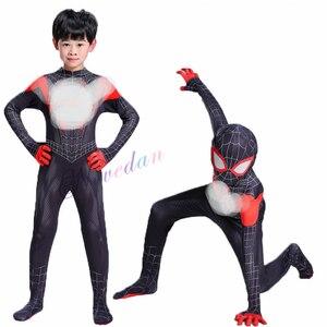 Image 5 - 新 2020 大人の子供のコスプレ衣装全身タイツのスーパーヒーロー黒ボディスーツスーツ