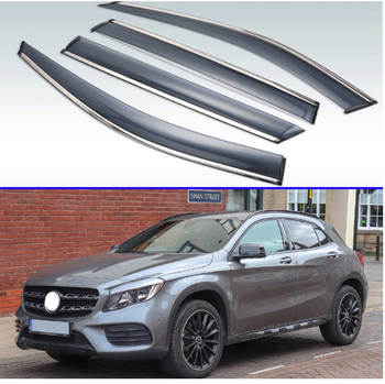 For Mercedes-Benz GLA-Class GLA180 200 220 250 2016-2019 Plastic Exterior Visor Vent Shades Window Sun Rain Guard Deflector 4pcs 1