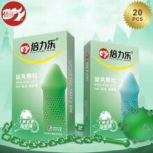 Beilile 20PCS 360 Degree Studded Condoms for Men Lemon Flavor Twill Ribbed G-Spot Penis Sleeve For Sex Spike Condom Cock Sleeve цена
