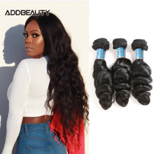 Loose Wave Unproccessed Raw Virgin Hair Weave Bundles Addbeauty Peruvian Women Human One Donor Hair Double Drawn Natural Color