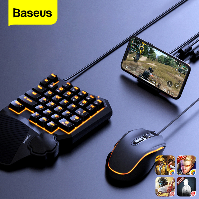 Baseus Game Suit USB Type C Phone Holder Keyboard Mouse Base Control for Android iOS System Wireless 4.0 Game Peripheral Gamepad