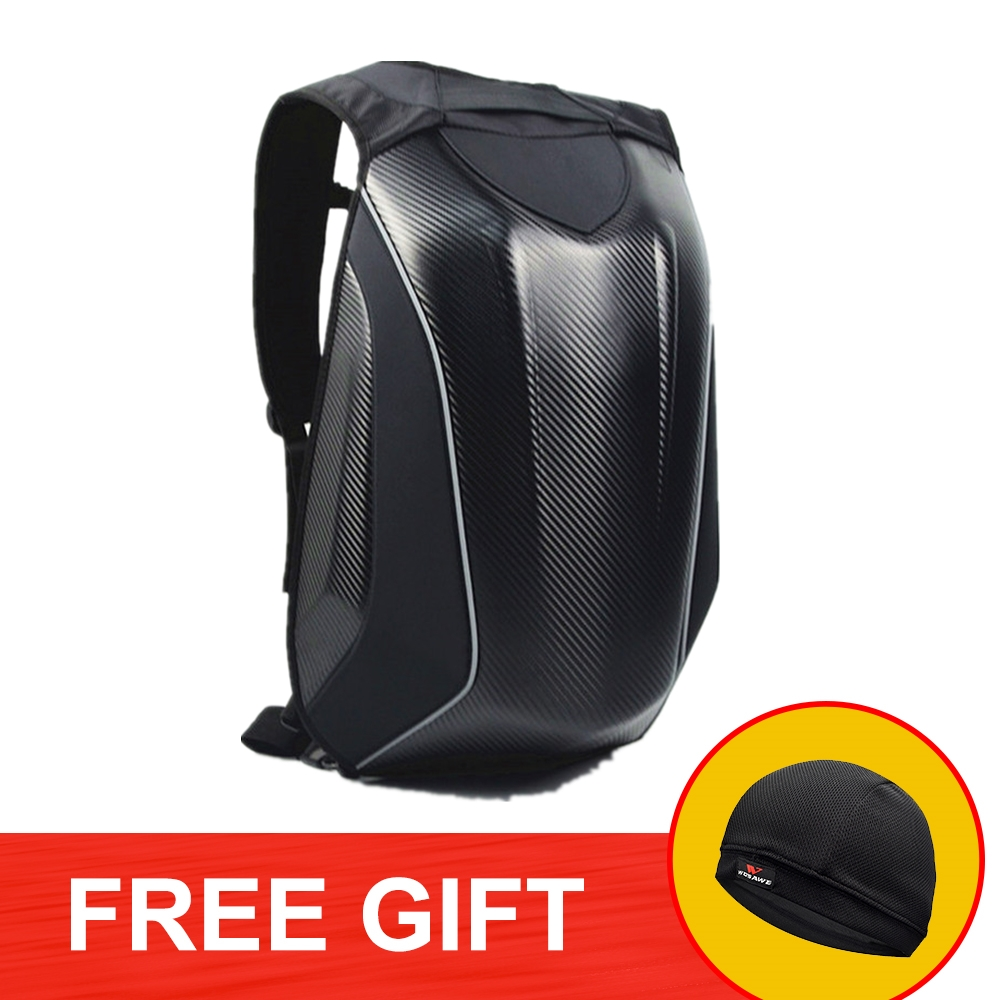 Motorcycle 30L Backpack Helmet Bag Carbon Fiber Motocross Riding Racing Bag Reflective Waterproof Motorbike Double Shoulder