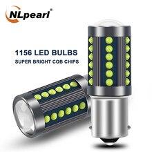NLpearl 2X Signal Lamp Bau15 Py21w 1156 Led Ba15s P21w LED Bulb Cob Chips Bay15d 1157 Led P21/5W Car Turn Signal Brake Light 12V