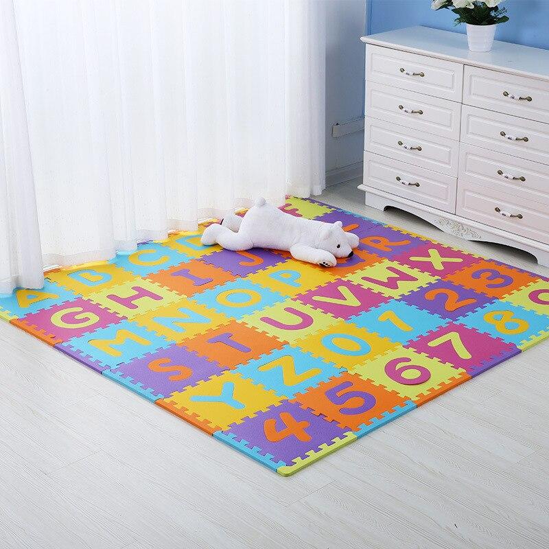 Bande dessinée semaine huit avec chiffres lettrés bébé tapis rampant Puzzle épais infantile enfant escalade Pad Joint mousse plancher Pad