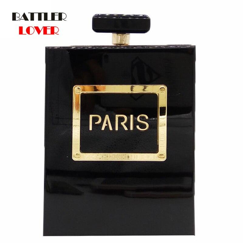 Bags For Women 2019 Women's Fashion Clutches Purse Perfume Bottle Crossbody Shoulder Bags Laides Acrylic Box Clutch Evening Bag
