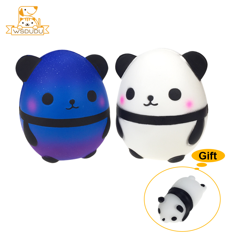 Starry Sky Pandas Jumbo Balls Squeeze Cute Star Animal Squishy Novelty Jokes Gags Toys Stress Relief Gift Slow Rising Antistress