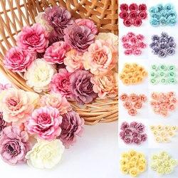 Vente 200 pièces têtes de soie artificielle faux pivoine fleurs hortensia à la main accessoires Bouquet mariage mur décor à la maison en gros