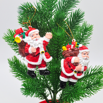 2020 Christmas decorations handmade painted Santa tree decoration pendant childrens New Year gifts home