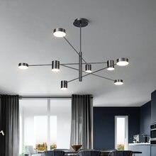 Современные Подвесные светодиодные светильники золотого черного