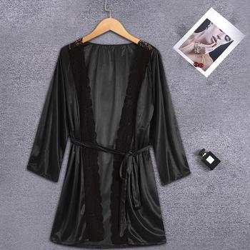 Wedding Robes Women Nightwear Lace Lingerie Sexy