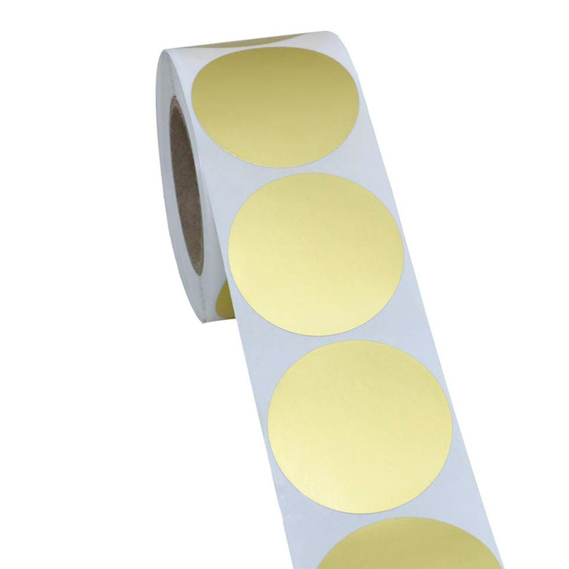 Blank Round Golden Craft Stickers Seal Labels 500 Labels Per Roll Theacher DIY Stickers For Package Adesivo Sticker Stationery