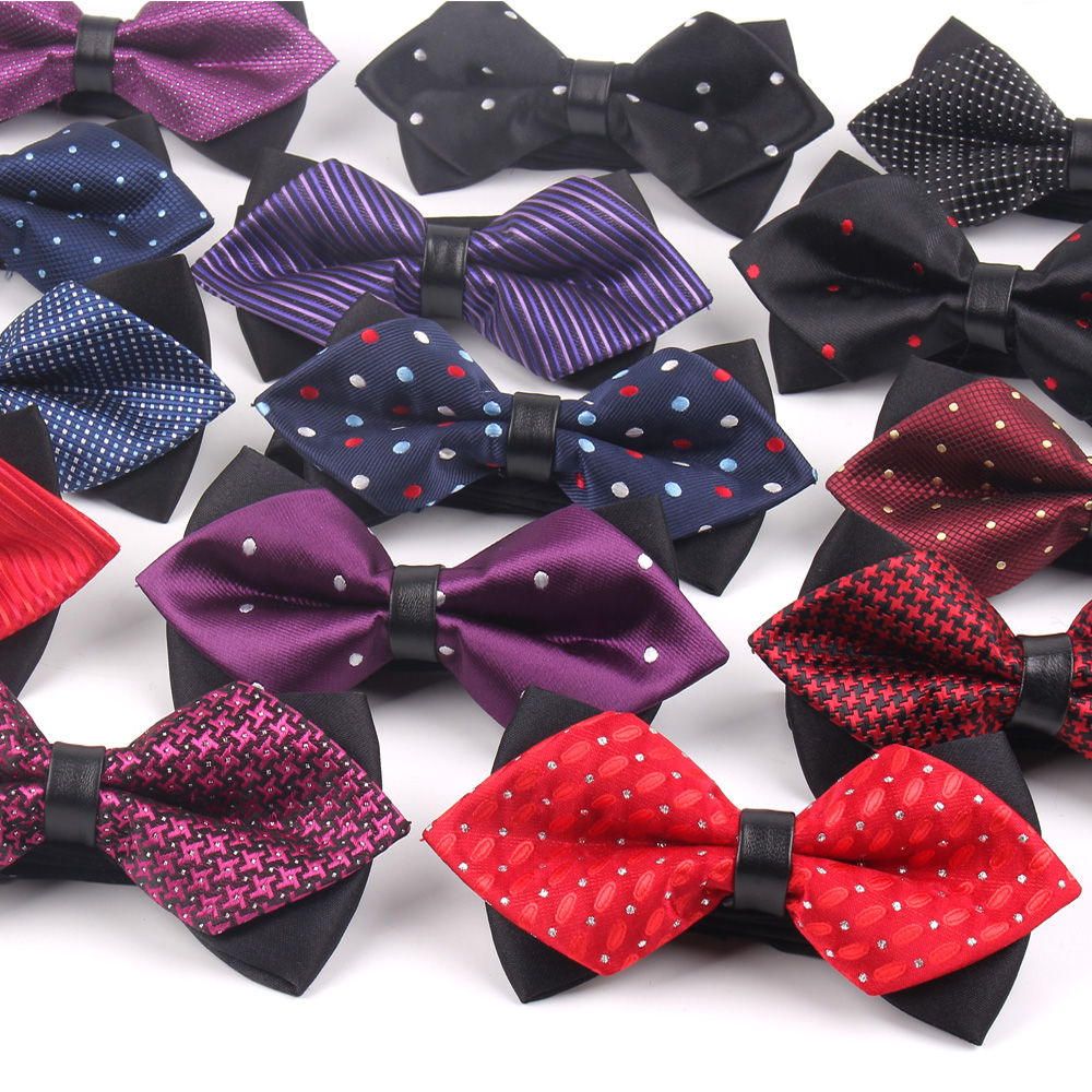 New Bow Tie For Men Women Classic Suits Bowtie For Business Wedding Bowknot Adult Jacquard Pointed Bowties Cravats Ties