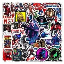 52PCS Disney The Avengers Marvel Hero Stickers Cartoons Anime Waterproof Laptop Guitar Luggage Skateboard Sticker Boy Kids Toy