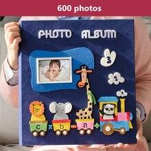 PA5 6 אינץ אלבום תמונות 700 תמונות דף סוג ילדי משפחה אלבום creative הרגיש להדביק קריקטורה כיסוי תינוק לגדול גלרית