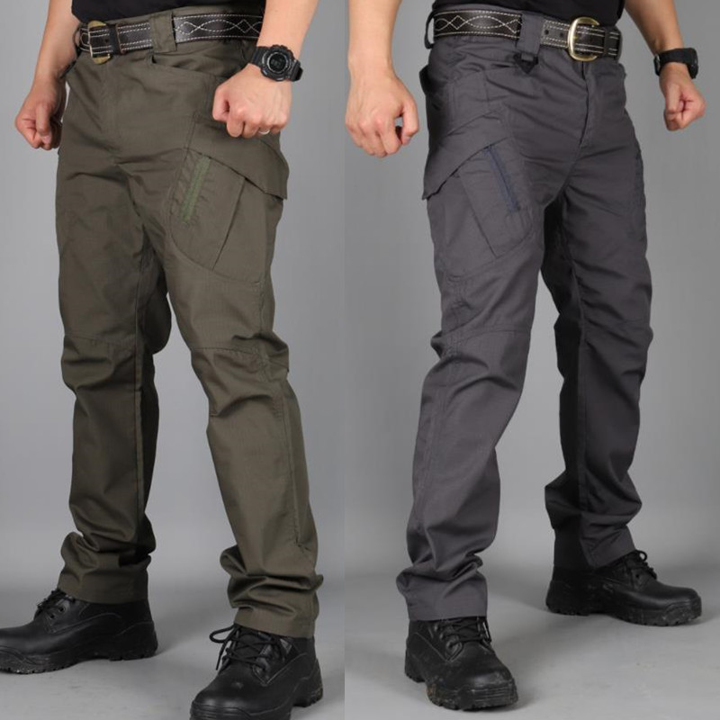 Cargo-Pants Pantalon Streetwear Hip-Hop Military Workout Hiking Tactical IX9 City Hombre title=