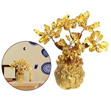Kryształ Feng Shui cytryn drzewko szczęścia Tabletop dekoracja sklepu domowego biura