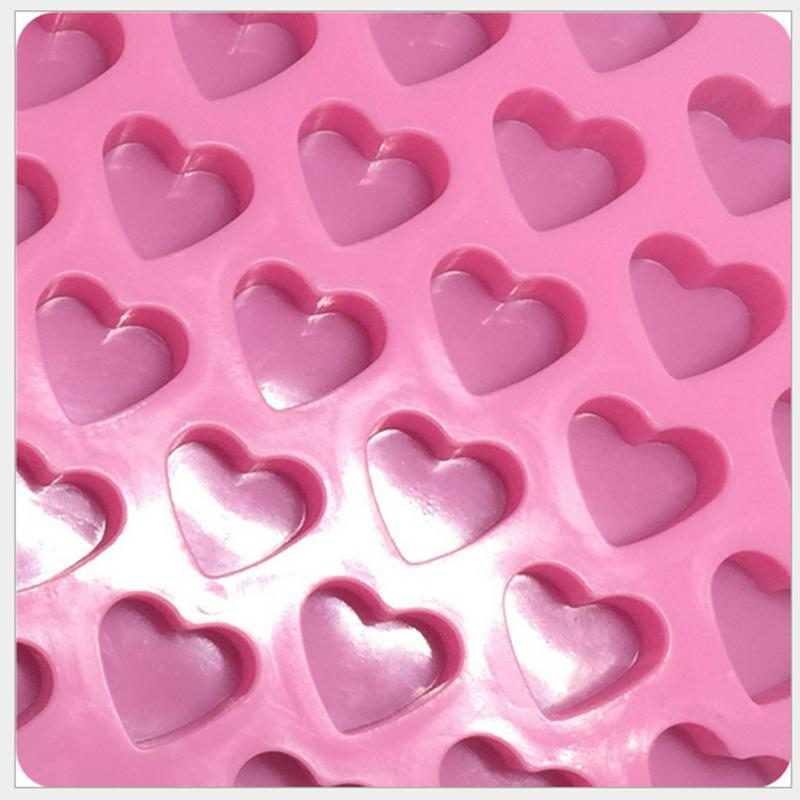 DIY 55 Mini Heart Shape Food Silicone Ice Cube Mold Fondant Chocolate Tray Mould Cute Ice Cream Maker Mold Kitchen Gadgets Tools
