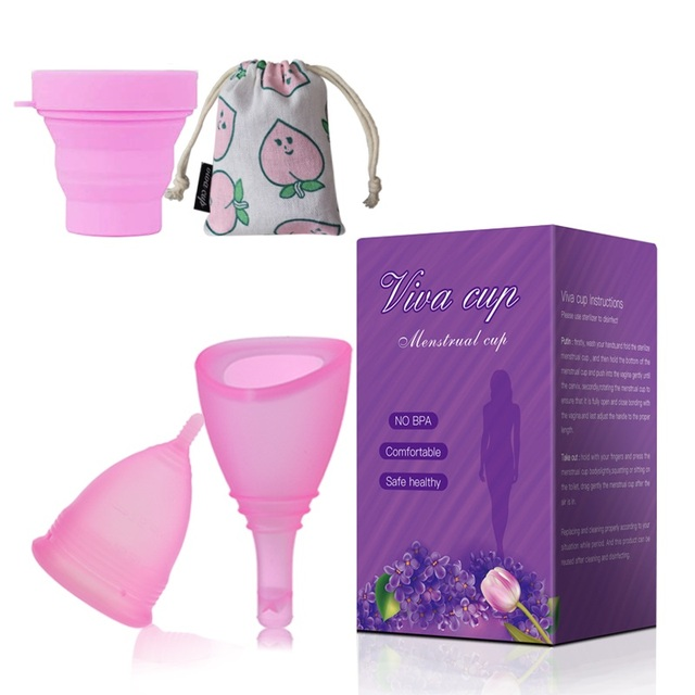 Copa menstrual discharge medical grade silicone menstrual cup valve menstruation silica gel lady cup copo menstrual de silicone