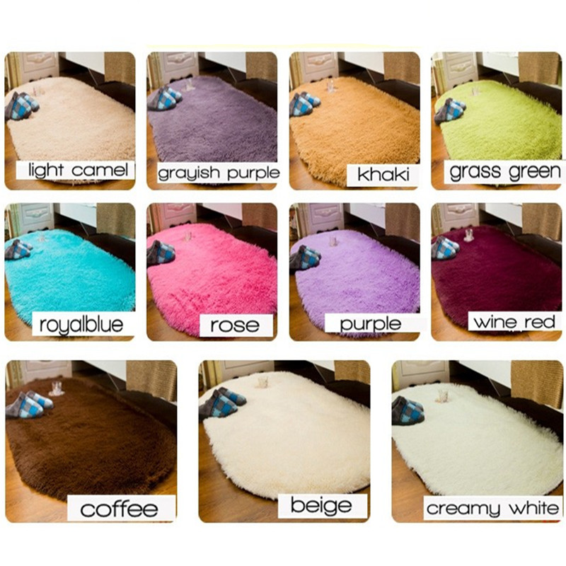 Living Room Decorating Soft Floor Carpet Warm Colorful Bedroom Floor Rugs Slip Resistant Mats Thick Shaggy Faux Fur Area Rugs