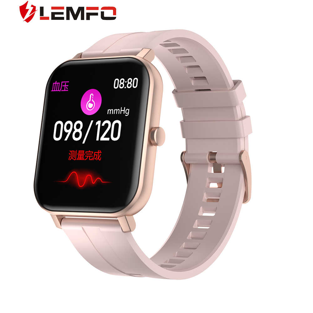 LEMFO ساعة ذكية للنساء F22 2.5D HD عرض ساعة يمكنك تصميم واجهتها بنفسك الطقس الرياضة Smartwatch النساء ل أندرويد IOS GTS 14 أيام الاستعداد