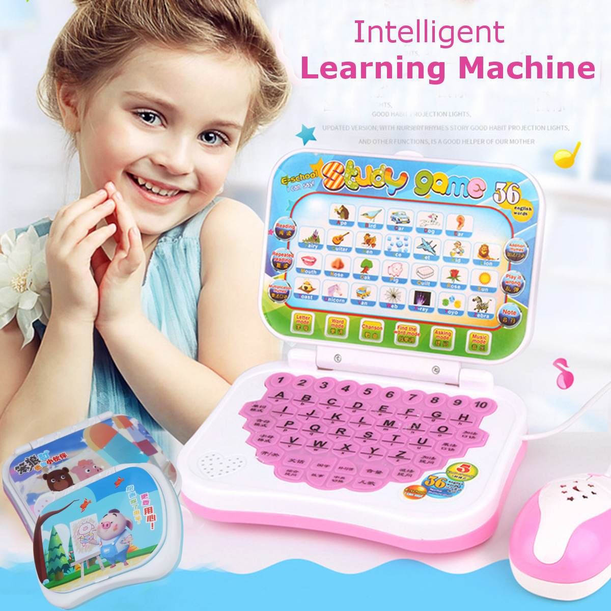 New Baby Kids Pre School Educational Learning Study <font><b>Toy</b></font> <font><b>Laptop</b></font> Computer Game Educational <font><b>Toy</b></font> image