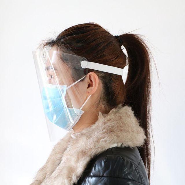 Transparent Anti-saliva Dust-proof Protect Full Face Covering Mask Visor Shield 3