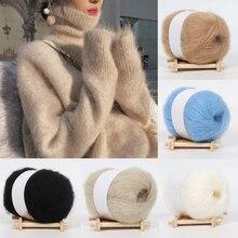 Hat Wool-Yarn Knitting Cashmere Mohair Scarf Sweater Thread-Supplies Crochet Hand Soft