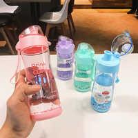Tritan plastic water bottle 350ml 450ml BPA free Portable My Drink Bottle Girl student Leak-proof Water Bottle Outdoor Sport