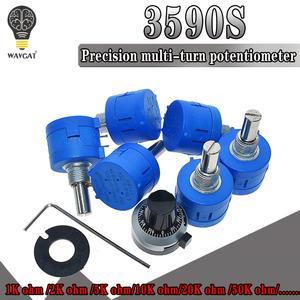 WAVGAT Multiturn Potentiometer Adjustable Resistor 3590S 50K 20K 10K 500 103 102 502