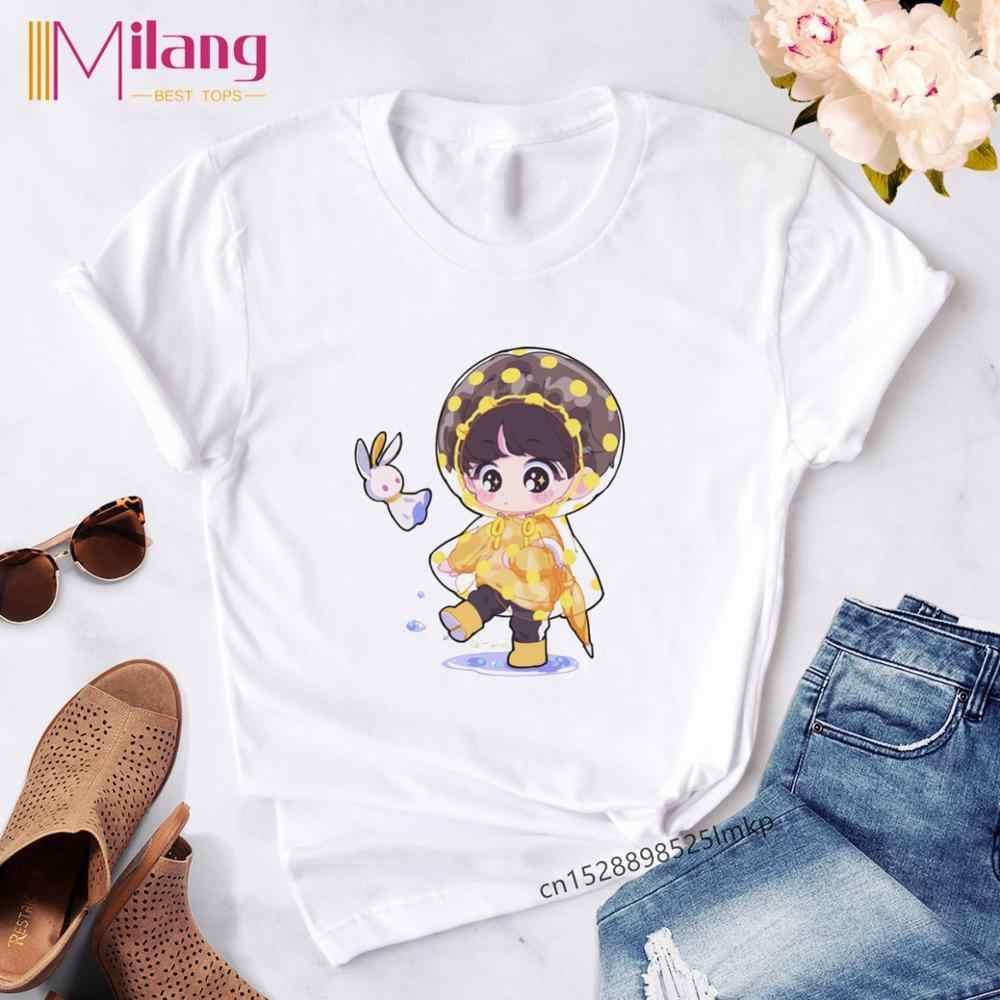Fashion T Shirt Vrouwen Koreaanse Stijl Oversized Kpop Tshirt Vrouwelijke Ulzzang Harajuku Jin Suga J Hoop Jimin V Jungkook T-shirt