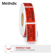 Methdic 1000pcs/roll 1x2inch  Fragile label Self-Adhesive Stickers Fragile Stickers for shipping Moving packing 9mm round packing ce regulated self adhesive label stickers black 192 x 15 pack