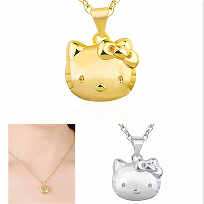 Korean The Best Selling Kitty Gold Pendant Necklace Female Creative New Product  Jewelry Valentine's Day Gifts on February 14
