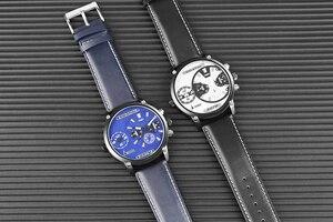 Image 4 - Keller & Weber ساعات رجالية فاخرة ماركة مشهورة فريدة من نوعها مصمم جلد طبيعي كوارتز ساعة معصم الرجال ساعة رجل Reloj Hombre