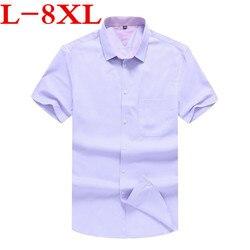 big size 8XL9XL Plaid Shirt Men Shirts  New Summer Fashion Chemise Homme Mens Checkered Shirts Short Sleeve Shirt Men Blouse