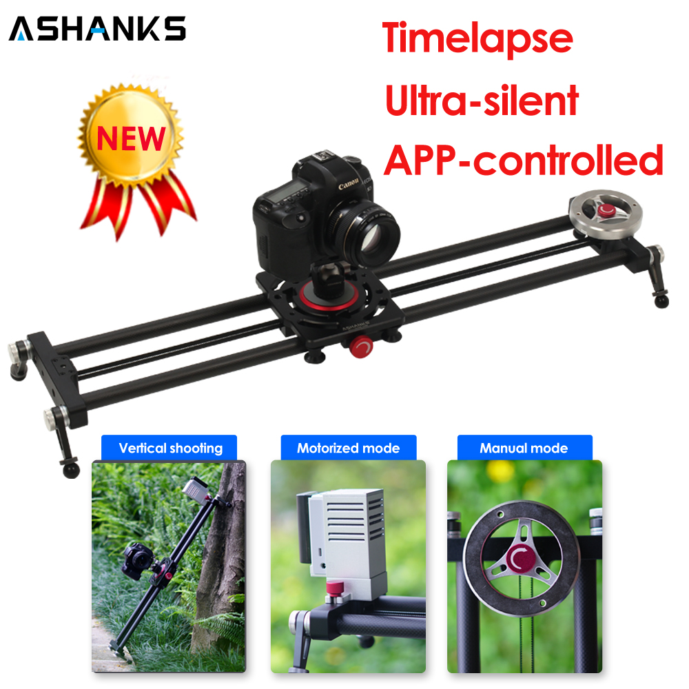 ASHANKS Silent Bluetooth Camera Slide Carbon APP Motorized Electric Control Delay Slider Track Rail For Timelapse Photography