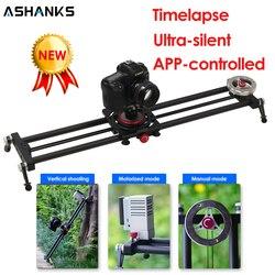 ASHANKS Silent Bluetooth Camera Slide Carbon APP Motorized Electric Control Delay Slider Track Rail for Timelapse Photography