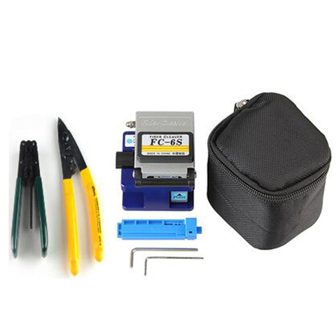 Precisão + 2 Kit de Ferramentas Ftth Alta Chave Bolsa Cfs-2 Proproskit Cpfb01 Fibra Óptica Cleaver Hot-ab8i Fc-6s Hex
