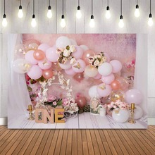 Spring Butterfly Newborn Floral Portrait Backdrop for Photography Kids Baby 1st Birthday Cake Smash Photo Background Studio Prop