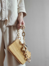 Retro Beads Wood Box Bag Fashion Acrylic Chain Wood Clip Bags For Women Handbags Designer Shoulder Crossbody Bags Evening Clutch цена в Москве и Питере