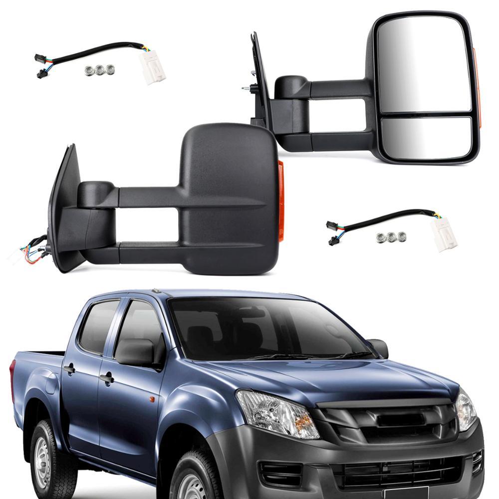 Set Pair LH+RH Electric Door Mirror Type 1 Chrome For Holden Colorado RC 08~12