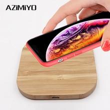 AZiMiYO Qi Veloce di Legno Senza Fili del Caricatore per il iPhone 11 Pro XS Max XR 8 Plus Wireless Pad di Ricarica per Samsung s10 S9 S8 S7
